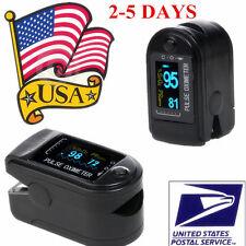 OLED Pulse Oximeter Finger Tip Blood Oxygen SpO2 Monitor FDA CMS50D Black US