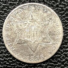 1856 Three Cent Piece Silver Trime 3c Better Grade #20160