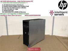 HP Z620 Workstation 2x Xeon E5-2667 V2 3.30GHz 192GB 1TB SATA 256GB SSD K6000