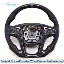 Carbon Fiber Leather Thick Sculpted Customized Steering Wheel for Buick Regal 13