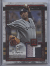 CC SABATHIA 2020 TOPPS MUSEUM COLLECTION PATCH YANKEES