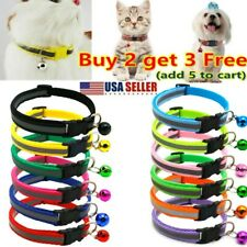 Usa Dog Cat Collar Cute Buckle Bell Bow Tie Reflective Stripe Kitten Puppy Xmas