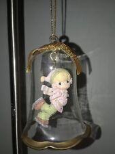 Precious Moments Bell Glass Christmas Ornament 1994 Pmi