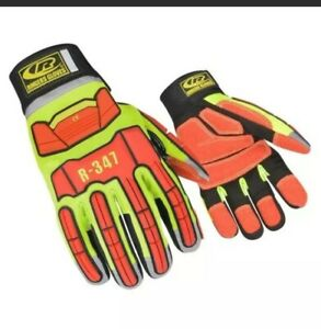 Ringers R-347 Extrication TPR Protected Hi Vis Reflect-Work Gloves Size XL New