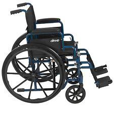 Portable Folding Wheel Chair Detachable Desk Arm Swing Away Foot Rest Adult Seat