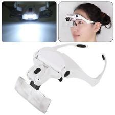 Dental Magnifier Glass Dentist Loupes 5 Lens Surgical Binocular Head Led Medical