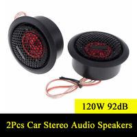 2Pcs 120W 92dB Car Door/Rear Tray Mount Tweeter Audio Loud Stereo Speakers Black