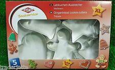 Fisko Backservice 5 Lebkuchen Ausstechformen-Set für Weihnachts-Bäckerei NEU !!!