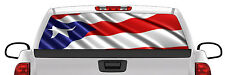 Puerto Rico Pride Back Rear Window Graphic Perforated Film Decal Truck SUV