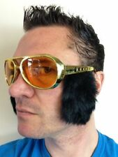 1950s 60s Elvis Rock N Roll Sunglasses 10cm Sideburns Fancy Dress Stag Vegas