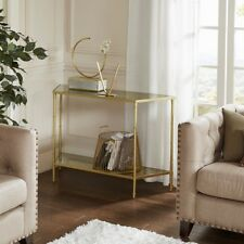 Madison Park GOLD Lauren Console Table *Fast Shipping* 2 TIERED Antique Mirror