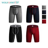Packs Mens Spandex Boxer Briefs Lot Performance Active Long Leg Underwear Sports