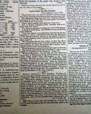 MEXICO CITY ENTERED General Winfield Scott Mexican-American War 1847 Newspaper
