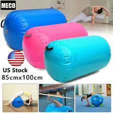 "Us 39x33"" Inflatable Pvc Gymnastics Gym Air Barrel Mat Track Roller Pad"