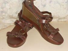 Marks & Spencer Brown Leather Wedges/Sandals Se 6. BNWOB RRP £39.50