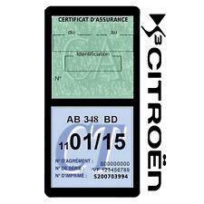 Porte vignette assurance CITROEN DS3 double étui voiture Stickers auto rétro