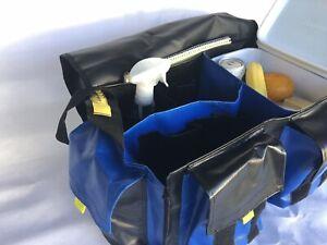 Extra Large Crib Bag, Black & Blue