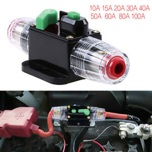 10A-100A Car Circuit Breaker Fuse Reset Stereo Audio Boat Marine Replace Fuse