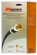 Monster Cable M850 High Performance Subwoofer Audio Cable w/ Y Adapter - 12 Ft