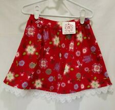 HANNA ANDERSSON NWT Size 110 4 5 Lucia Red Skirt 100% Cotton