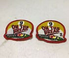 Molson On The Break 9 Ball League Patches Set Of 2