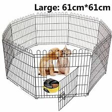 Pet Fence Pen Puppy Dog Cat Rabbit Playpen Indoor / Outdoor Enclosures Run Cage