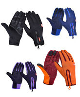 US Men Full Finger Cycling Gloves Winter Fleece Bike Bicycle Touch Screen Glove