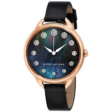 Marc Jacobs Betty Black Mother Of Pearl Dial Ladies Leather Watch MJ1511