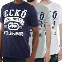 New Mens T-Shirt Ecko Hybrid Regular Tee Cotton Grey White Navy Basic Printed