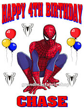 Spiderman Personalized Custom Birthday t Shirt Party Favor Gift present