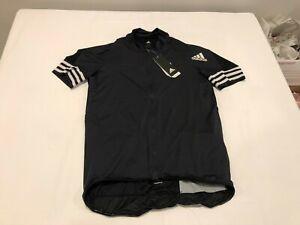 NWT $150.00 Adidas Mens Adistar Aeroready Cycling Jersey Black Size LARGE