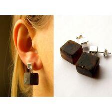 Amber Earrings BLACK Silver 925er  Unique**