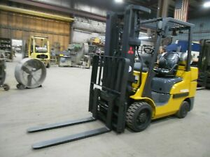 2017 Mitsubishi FGC30N, 6,000#, 6000# Cushion Tired Forklift w/3 Stage & SS/FP