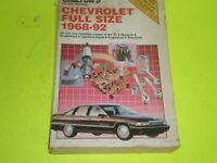 1968-1992  Chevrolet Full Size Impala Caprice Biscayne Bel Air Chilton Manual