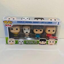 Funko Pop! Peanuts 4 Pack Minis Target Exclusive Charlie Brown Snoopy Linus
