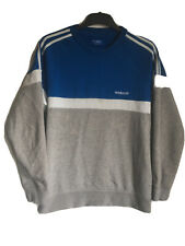 Adidas para hombre rayada de manga larga de algodón/poliéster Deporte Blusa M (B999)
