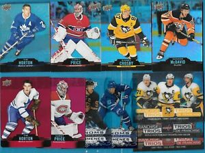 2020-21 TIM HORTONS RED DIE-CUT CLEAR CUT PHENOMS FRANCHISE TRIOS SEE LIST