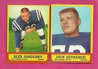 1963 TOPPS BALTIMORE COLTS  EX-MT CARD LOT  (INV# C4503)