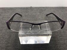 Cosmopolitan Eyeglasses VIVID Purple 52-17-135 Half Rimless 1518