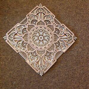 Beautiful, multi-layer wooden Mandala / Gridding board  Made in Wales.