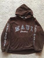 Maui Hawaii Hoodie  Paradise Lahaina  Brown Cotton Blend  M