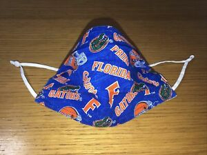 Florida Gators Mask 2 layers of cotton adjustable w/nose wire