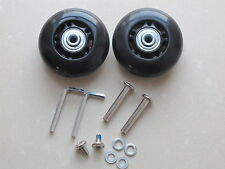 2 Sets Luggage Suitcase Replacement Wheels Axles Deluxe Repair OD 64mm