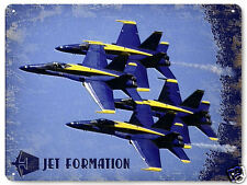 Blue Angels metal sign Jet Airplane model plane vintage style boys room decor030
