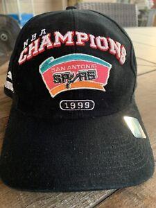 Vintage San Antonio Spurs 1999 NBA Basketball Champions Puma Black Hat 1999