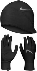 Nike Mens Essential Running Hat And Glove Set - Black - S/M - L/XL