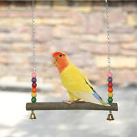 Colorful Parrot Swing Bird Toy Rope Harness Cage Cockatiel Budgie Chew Toys 03