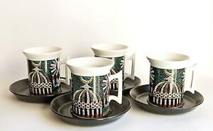 Portmeirion Magic City, Set of 4 x Coffee Cups and Saucers