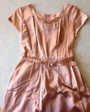 Gorgeous Genuine Vintage Ball Gown Dress w. Pockets & Belt s. 8