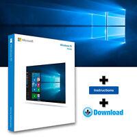 Windows 10 HOME 32-64bits Licencia digital - Entrega en 3 segundos